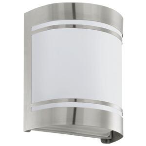 EGLO vanjska zidna/1, E27, inox/opal staklo, bijelo 'CERNO'
