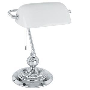 EGLO stolna/1, krom-mat/bijelo staklo 'BANKER'