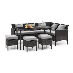 BLUMFELDT Titania Dining Lounge Set vrtni namještaj, Crna