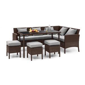 BLUMFELDT Titania Dining Lounge Set vrtni namještaj, Smeđa