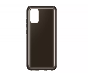 Prozirna maska za Samsung Galaxy A02s crna EF-QA026TBEGEU