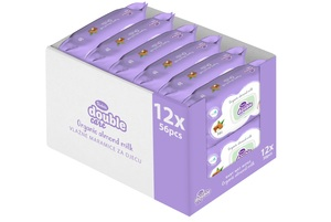 Violeta baby vlažne maramiceSensitiveCare s bademovim mlijekom 12x56 kom