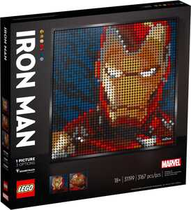 LEGO ART Iron Man iz kuće Marvel Studio 31199