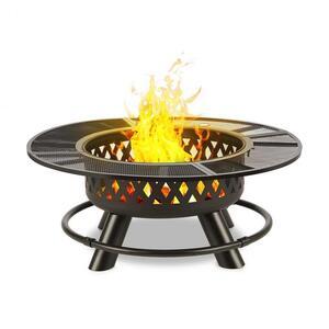 BLUMFELDT Rosario 3-u-1, posuda za vatru, Ø 120 cm , 70 cm roštilj, stolna daska, čelik