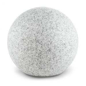 LIGHTCRAFT Shinestone XL, okrugla vanjska svjetiljka promjera 50 cm, izgled kamena