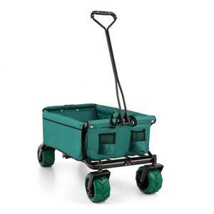 WALDBECK THE GREEN Ručna kolica, SKlopiva, 70 KG, 90L, kotači široki 10 CM, ZELENA