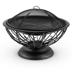 BLUMFELDT TULIP, Ø 75 CM, zdjela za ugljen, roštilj, zaštita od iskrenja, čelik, polirana
