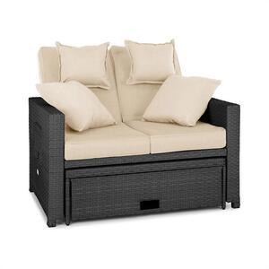 BLUMFELDT Komfortzone rattan-lounge-sofa, Siva