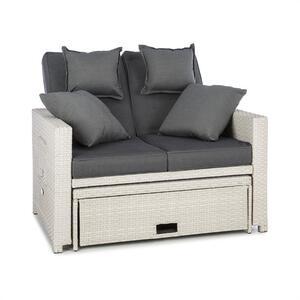 BLUMFELDT Komfortzone rattan-lounge-sofa, Bijela
