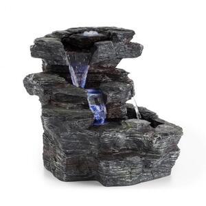 BLUMFELDT Rochester Falls, vrtna fontana, IPX8, 6 W, polyresin, 3 LED diode, izgled kamena