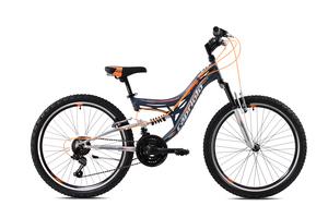 CAPRIOLO dječji bicikl CTX240 24'/18HT sivo/narančasta