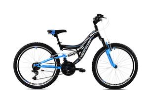 CAPRIOLO dječji bicikl CTX240 24'/18HT crno/plavi