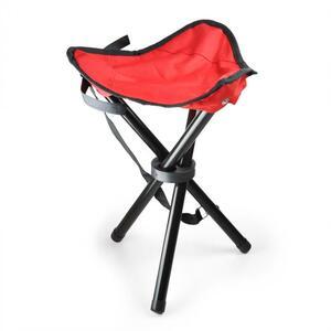 DURAMAXX Sklopivi prijenosni stolac za kampiranje / pecanje, crveni