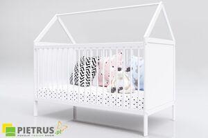 Pietrus dječji krevetić House 2 u 1 White -  140 x 70 cm