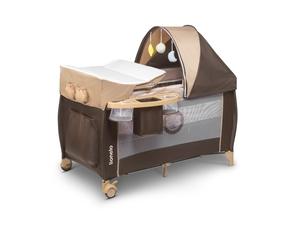 Lionelo dječji prijenosni krevetić Sven PLUS, bež pruge