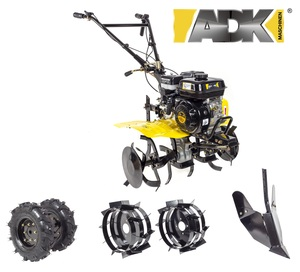 ADK motorna kopačica GT-800B - 7 KS + gumeni kotači + metalni kotači + plug