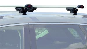 G3 krovni nosač CLOP Airflow aluminij 110cm, za integrirane odvojene uzdužne vodilice
