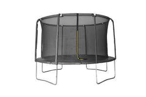 LEGONI trampolin AERO sa zaštitnom mrežom i ljestvama, 244cm -crni
