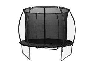 LEGONI trampolin SPACE sa zaštitnom mrežom  i ljestvama, 425cm-crni