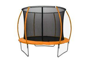 LEGONI trampolin SPACE sa zaštitnom mrežom  i ljestvama, 366cm- narančasti