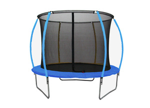 LEGONI trampolin SPACE sa zaštitnom mrežom  i ljestvama, 425cm-plavi