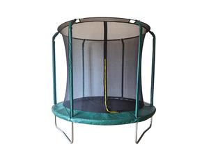 LEGONI trampolin AERO sa zaštitnom mrežom i ljestvama, 425cm-tamno zeleni