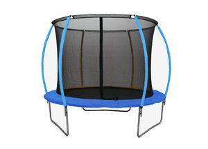 LEGONI trampolin SPACE sa zaštitnom mrežom i ljestvama, 244cm- plavi