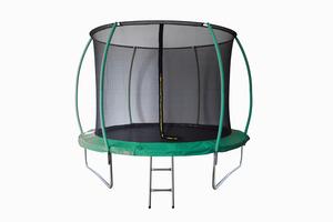LEGONI trampolin SPACE sa zaštitnom mrežom i ljestvama, 244cm- tamno zeleni