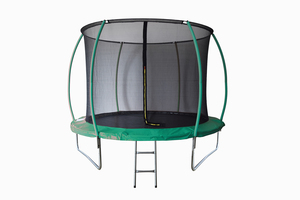 LEGONI trampolin SPACE sa zaštitnom mrežom  i ljestvama, 425cm-tamno zeleni