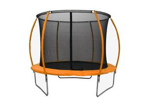 LEGONI trampolin SPACE sa zaštitnom mrežom  i ljestvama, 425cm-narančasta