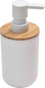 TENDANCE dozator za sapun poliresin/bambus bath, bijela/bambus