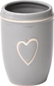 TENDANCE čaša keramika, svijetlo siva srce