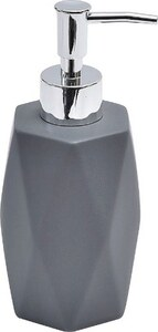 TENDANCE dozator za sapun keramika, tamno siva diamond