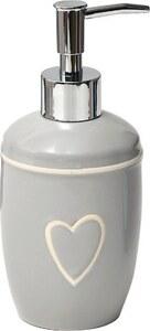 TENDANCE dozator za sapun keramika, svijetlo sivi srce