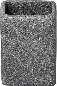 TENDANCE čaša poliresin, siva square