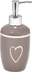 TENDANCE dozator za sapun keramika, sivi srce