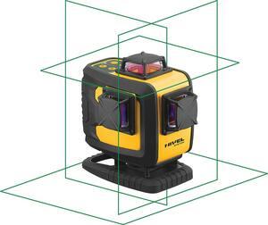 """NIVEL SYSTEM Laserski nivelir  30/70m 4 zrake 360""""+stativ+magnetni držač"""