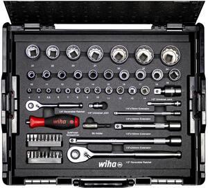 """WIHA Set nasadnih ključeva 1/2"""" + 1/4"""" 60/1 L-boxx"""