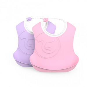 Twistshake 2x podbradnjak 4+m Pastel Pink Purple