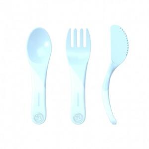 Twistshake početni pribor za jelo 6+m Pastel Blue