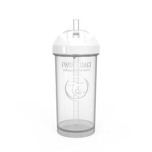 Twistshake bočica sa slamkom 360ml 12+m Pastel White