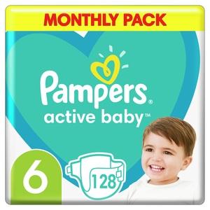 Pampers Active Baby mjesečno pakiranje S6 128 kom