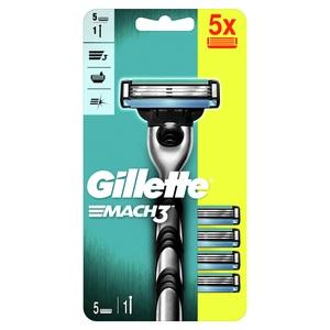 Gillette Mach 3 Brijač + zamjenske britvice 5 kom