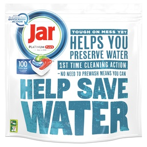 Jar tablete za strojno pranje posuđa Platinum Plus Quick 100 komada