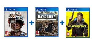 Akcijski PS4 paket 3 igre (Call of Duty: Black Ops Cold War + Days Gone + Cyberpunk 2077)