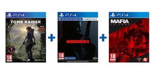 Avanturistički PS4 paket 3 igre (Mafia Trilogy + Hitman 3 + Shadow of the Tomb Raider Definitive Edition)