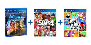 Obiteljski PS4 paket 3 igre (Just Dance 2021 + The Sims 4 + Concrete Genie)
