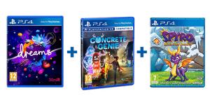 Dječji PS4 paket 3 igre (Dreams + Concrete Genie + Spyro Trilogy)
