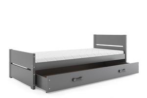 Drveni dječji krevet Bartek - 200*90 - grafit
