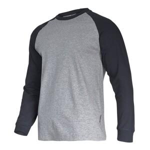 LAHTI PRO majica dugih rukava, 190 g/m², sivo-crna, - 2XL veličina